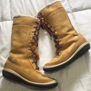Timberland Tan Size 8.5 Tall Picudilla Lace Boots